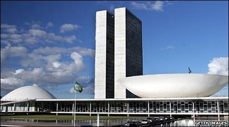 Congress in Brasilia designed by Oscar Niemeyer