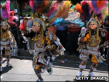 Dancers celebrate St Joseph's Day in Guatemala City