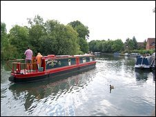 Narrowboat on a canal
