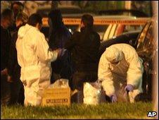 Scene of bomb attack in Athens