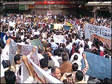 a Muslim Brotherhood demonstration in March 2010