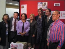 Sarah Brown with the Chinese for Labour team