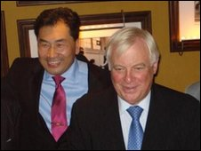 George Lee with Chris Patten