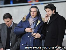 Swansea manager Paulo Sousa watches, ahead of Saturday's Welsh derby at Cardiff