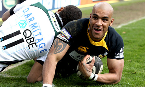 Tom Varndell scores Wasps' second try