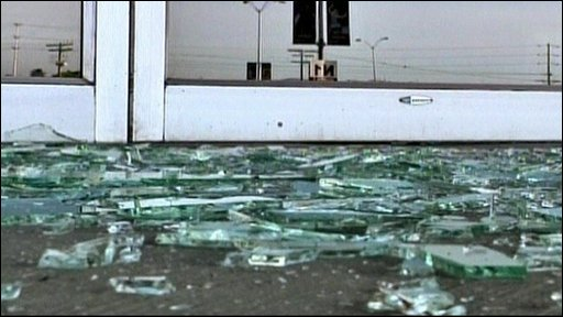Broken glass and shaking swimming pools....but the US came through a 7.2 magnitude earthquake largely unscathed.
