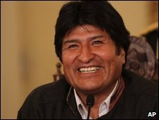 Evo Morales on 4 April