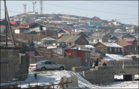 Homes of new migrants on the edge of Ulan Bator
