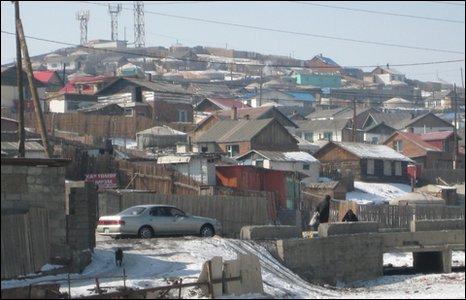 Homes of new migrants on the edge of Ulan Bator