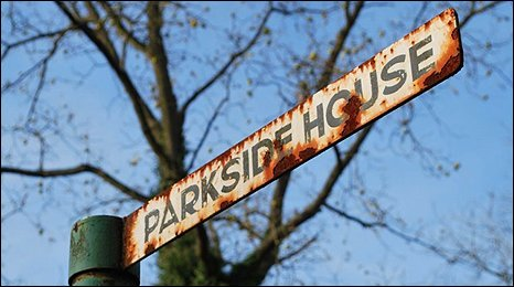 The sign to Parkside House where Marilyn Monroe stayed in 1956