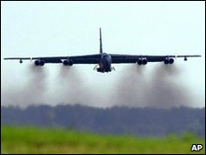 US B-52 bomber - file photo
