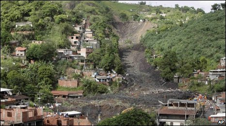 Landslide in the Morro do Bumba area of Niteroi, Rio de Janeiro, 8 April 2010