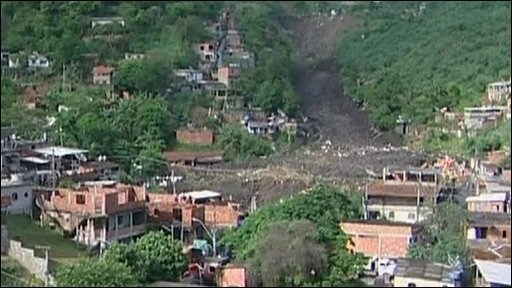 Landslide site in the Niteroi area of Rio de Janeiro