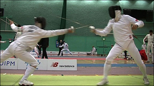 Fencing at the Modern Pentathlon World Cup in Kent