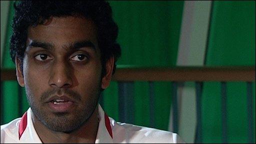 Badminton singles player Rajiv Ouesph