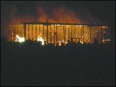 Leeds Festival ablaze in 2001