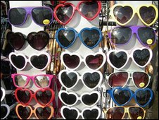 Sunglasses on a stall