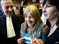 Lucy de Berk, after her acquittal (14 April 2010)