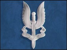 The SAS cap badge