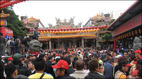 The Mazu temple in Dajia on 16 April 2010