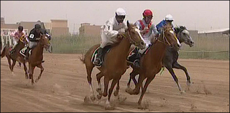 Horse racing in Baghdad