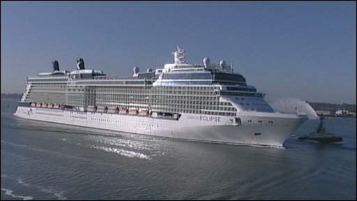 Celebrity Eclipse arriving in Southampton on Tuesday