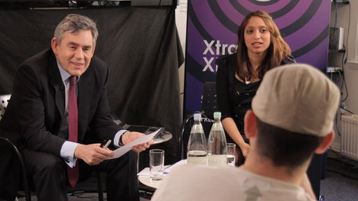 Gordon Brown at Radio 1
