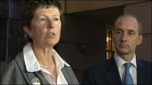 CAA's Dame Deidre Hutton and Trasnport Secretary Lord Adonis