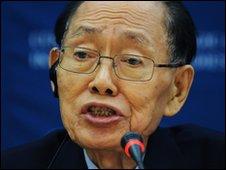 Hwang Jang Yop speaking in Washington DC, US (30 March 2010)