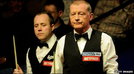 John Higgins and Steve Davis