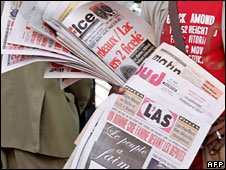 Newspapers for sale in Cameroon