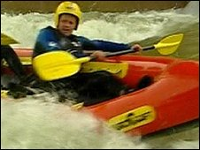 Mike Bushell rides the rapids