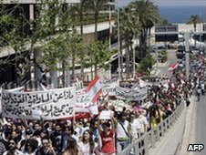 Lebanese in march calling for Secularism in Beirut