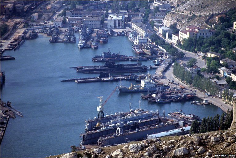 Black Sea fleet in Sevastopol, 1992