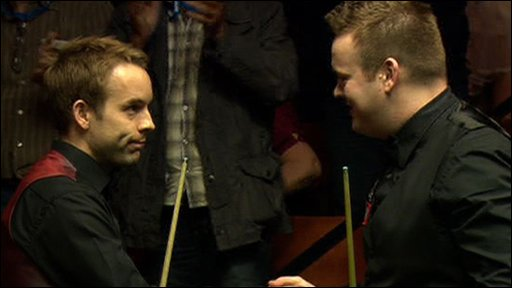 Ali Carter and Shaun Murphy