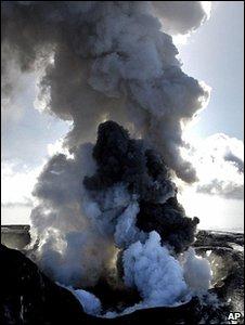 volcano ash ocean