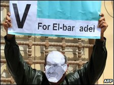 ElBaradei supporter at a rally