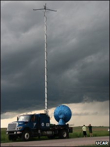 A &quot;doppler on wheels&quot; radar (Image: UCAR)
