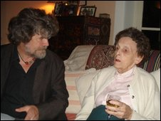 Elizabeth Hawley and Reinhold Messner