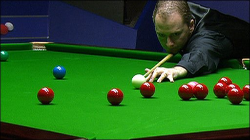 Graeme Dott at the Snooker World Championship semi-finals
