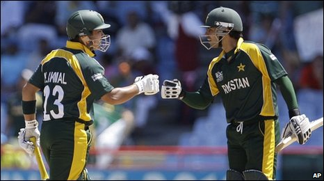 Kamran Akmal (left) and Salman Butt