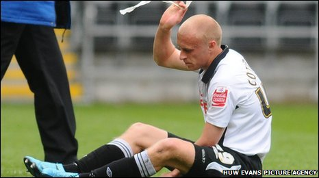 David Cotterill shows his disappointment