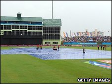 Rain stops play in Guyana