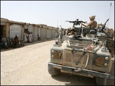 British soldiers on patrol in Afghanistan