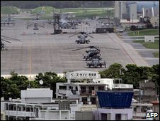 Futenma US Marines base, Okinawa, Japan