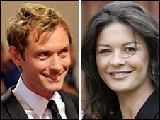 Jude Law and Catherine Zeta-Jones