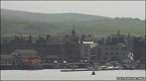 Campbeltown, webcam image courtesy of visitkintyre.info