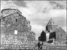 Churches on Sevan island in Lake Sevan, Armenia