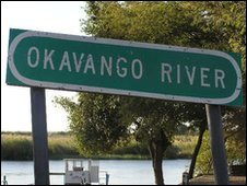 Okavango River road sign (Photo: JackyR on Wikimediacommons)