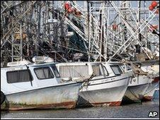 Fishing boats docked in Venice, La